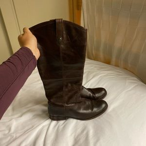 Brown Melissa Button Frye Boots